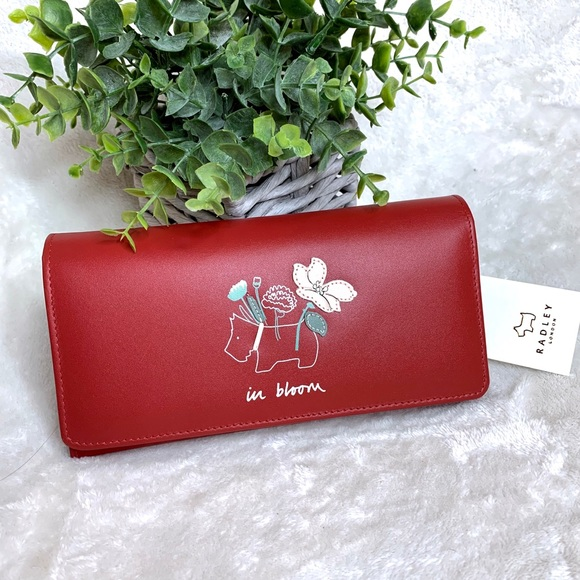 RADLEY LONDON Handbags - Radley In Bloom Red Flapover Matinee Wallet